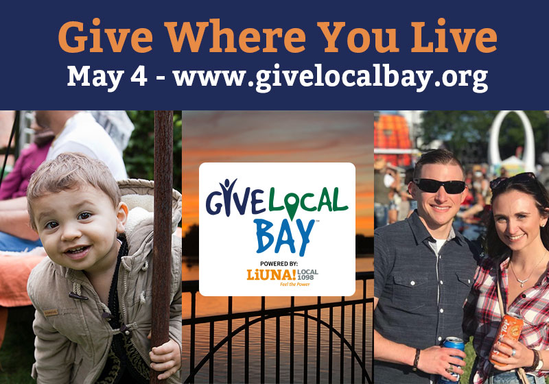 How You Can Help for Give Local Bay on May 4