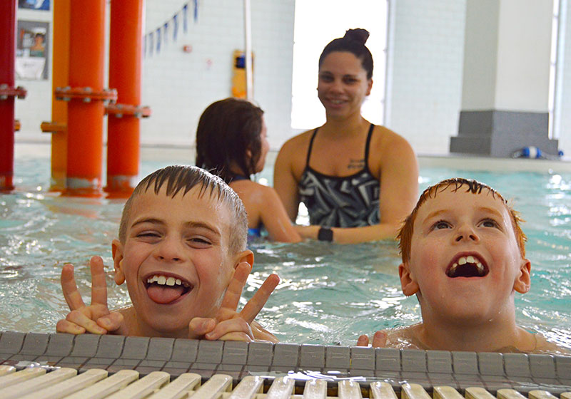 Students at Dow Bay Area YMCA Swim Lessons